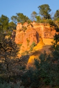 Roussillon cliffs in the late afternoon sunlight
