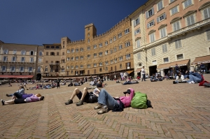 Taking some time out in Siena