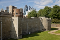 Old and New London. The Tower and the Gherkin