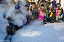 Yes, this is grown men and women on a miniature train.